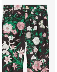 Kirna Zabete Green Floral Print Pants
