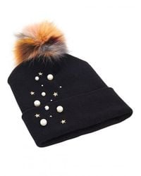 House of Lafayette - Blue Milou Pearl Beanie - Lyst