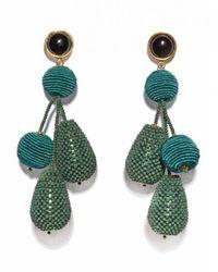 Lizzie Fortunato | Green Meteor Earrings | Lyst