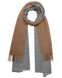 Donni Charm - Brown Stripe Merge Scarf - Lyst