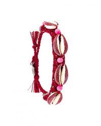 Venessa Arizaga - Shell We Dance Bracelet - Red - Lyst