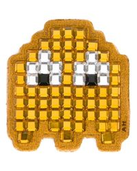 Anya Hindmarch - Pac-man Ghost Diamante Sticker - Yellow - Lyst