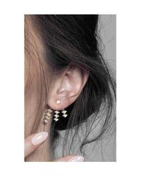 Azlee - Multicolor Triple Burst Diamond Earring - Lyst