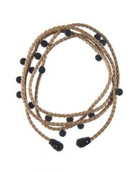 Rebecca de Ravenel | Metallic Le Cou Cou Wrap Necklace | Lyst