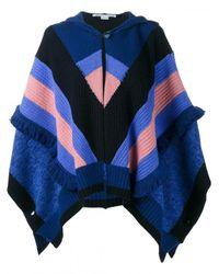 Stella McCartney | Blue Multi Stripe Snow Cape | Lyst