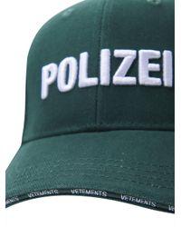 Vetements - Green Polizei Baseball Hat for Men - Lyst