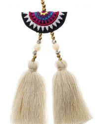 Shashi - Multicolor Double Tassel Drop Earring - Lyst