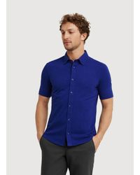 Kit and Ace - Blue Double Take Button Up for Men - Lyst