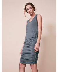 Krisa Ruched Tank Dress In Blue Lyst