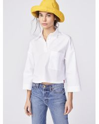Kule - Blue The Keaton Embroidered Shirt - Lyst