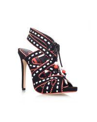 Miss Kg | Black Ennis High Heeled Lace Up Court Shoes | Lyst