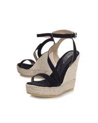 Carvela Kurt Geiger - Black Klassy High Wedge Heel Strappy Sandals - Lyst