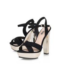 Carvela Kurt Geiger - Black Gone High Heel Platform Sandals - Lyst