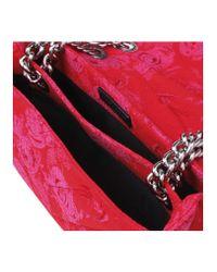 Kurt Geiger - Fabric Kensington Bag In Red Other - Lyst