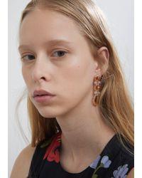 Simone Rocha - Metallic Triple Drop Earrings - Lyst