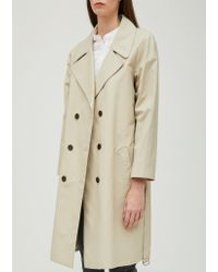 Officine Generale - Natural Lucile Cotton Nylon Trench Coat - Lyst
