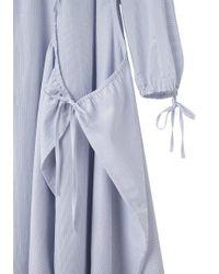 Yohji Yamamoto - Blue Shirring Dress - Lyst
