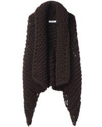 Helmut Lang - Black Chunky Knit Vest - Lyst