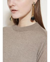 Marni | Black Earrings With Strass | Lyst