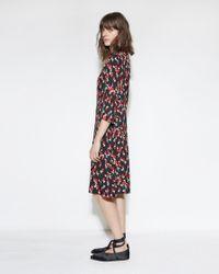 Marni | Black Printed Floral Dress | Lyst