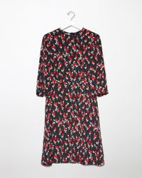 Marni - Black Printed Floral Dress - Lyst