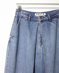 AALTO - Blue Front Pleat Jeans - Lyst