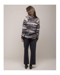 Vanessa Bruno Athé - Multicolor Scoop Neck Mohair Sweater - Lyst
