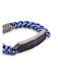 Stephen Webster - Metallic 'rayman' Sapphire Rhodium Silver Ceramic Chain Bracelet - Lyst