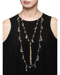 Rosantica - Metallic 'allegria' Faux Pearl Tassel Tiered Necklace - Lyst