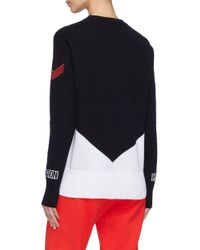 P.E Nation - Blue 'game Play' Colourblock Sweater - Lyst