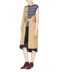 3.1 Phillip Lim - Multicolor 'sailor' Two-in-one Stripe Cardigan Peplum Dress - Lyst