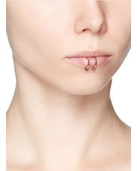 Kim Mee Hye - 'double Rocker' Black Diamond 18k Rose Gold Lip Ring - Lyst