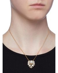 Anton Heunis - Metallic Swarovski Crystal Cluster Pendant Necklace - Lyst