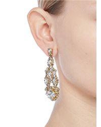 Erickson Beamon - Metallic Swarovski Crystal Chandelier Earrings - Lyst