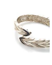 John Hardy - Metallic Sapphire Silver Wave Effect Cuff - Lyst