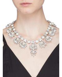 Erickson Beamon - Metallic 'jam' Swarovski Crystal Glass Pearl Bib Necklace - Lyst