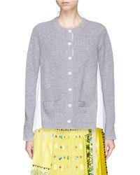 Sacai - Multicolor Rib Knit Hopsack Shirt Cardigan - Lyst