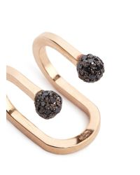 Kim Mee Hye - 'double Rocker' Black Diamond 18k Rose Gold Lip Ring - Lyst
