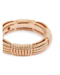 Roberto Coin - Metallic 'barocco' 18k Rose Gold Ring for Men - Lyst