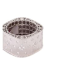 Roberto Coin - Metallic 'princess' Diamond 18k White Gold Ring - Lyst