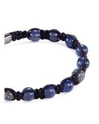 Shamballa Jewels - Metallic 'shamballa' Diamond Sapphire Bead 18k Gold Bracelet - Lyst
