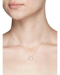 Bao Bao Wan - Metallic Axe Pendant Diamond Pavé 18k Gold Necklace - Lyst