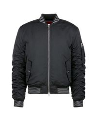 Mostly Heard Rarely Seen Multicolor 'haunting You' Rubber Appliqué Unisex Bomber Jacket for men