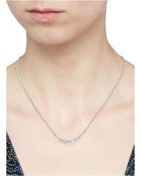 Philippe Audibert - Metallic 'logan' Feather Pendant Necklace - Lyst