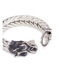 John Hardy - Metallic Sapphire Silver Naga Weave Effect Chain Bracelet - Lyst