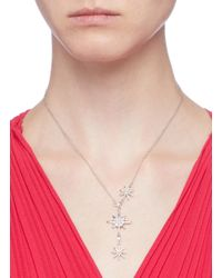 CZ by Kenneth Jay Lane - Metallic Cubic Zirconia Starburst Pendant Necklace - Lyst