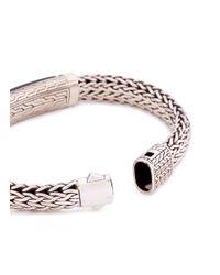 John Hardy - Metallic Sapphire Nephrite Jade Woven Chain Bracelet - Lyst