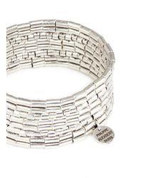 Philippe Audibert - Metallic 'line Three' Segmented Plate Elastic Bracelet - Lyst