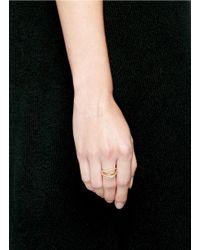 Phyne By Paige Novick | Metallic Lily' 18k Gold Diamond Pavé Curved Line Ring | Lyst