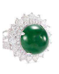 LC COLLECTION - Metallic Diamond Jade 18k Gold Ring - Lyst